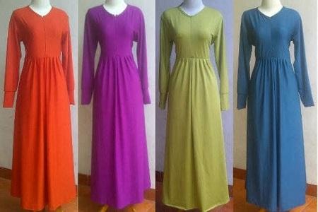 Sentra Produsen Gamis Modern Dan Cantik Bahan Jersey