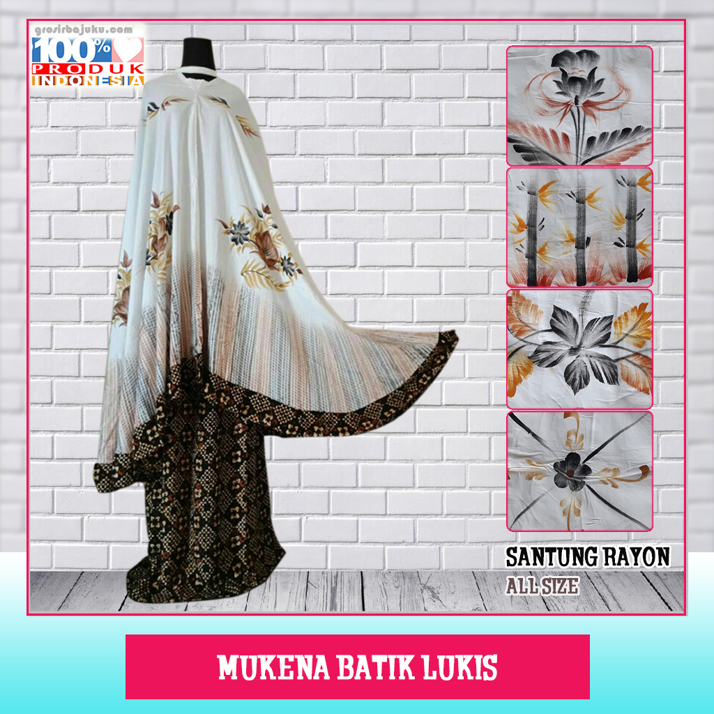 Mukena Batik Lukis Best Saler