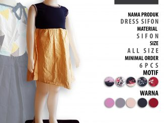 Konveksi Dress Sifon Anak Murah